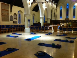 yoga in church